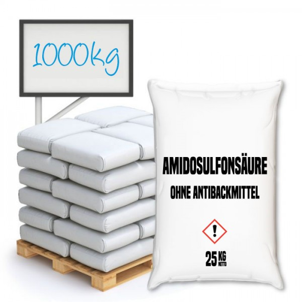 Amidosulfonsäure ohne Antibackmittel - Palette 1000 kg