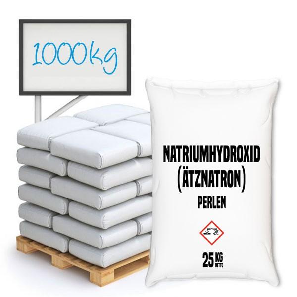 Natriumhydroxid Perlen (NaOH, Ätznatron, Sodium hydroxide) - Palette 1000 kg