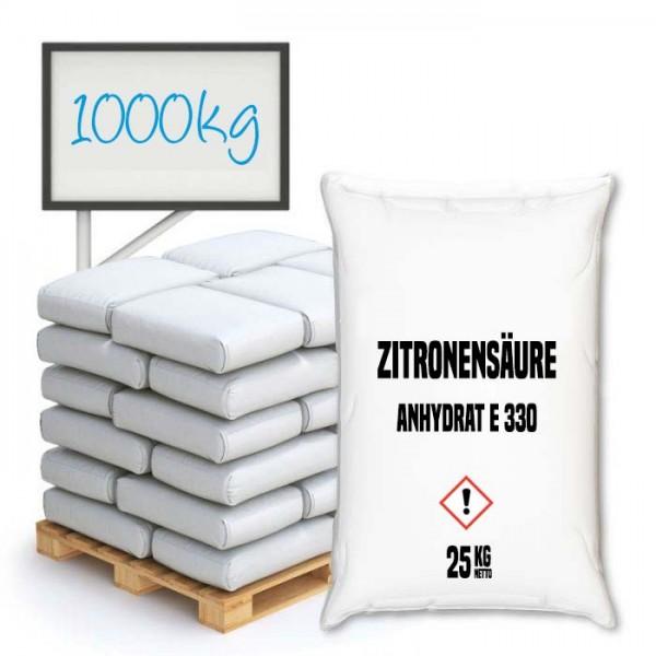 Zitronensäure Anhydrat E 330 (Citronensäure) - Palette 100 kg