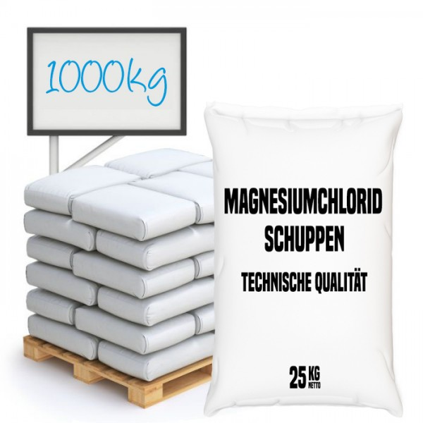 Magnesiumchlorid Schuppen, technische Qualität - Palette 1.000 kg